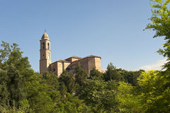 Pollenza (Macerata, Marches, Italy) - Old church Stock Image