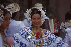 Pollera traditional dresss Panama Royalty Free Stock Photos