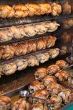 Polli cotti alla griglia. Fotografia Stock Libera da Diritti