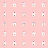Polli di Cutie con fondo rosa Fondo delle mattonelle Vettore illustrazione vettoriale