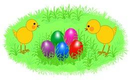 Polli di Pasqua Fotografia Stock