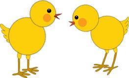 Polli di Pasqua Fotografie Stock