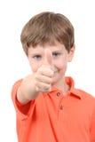 Pollice del ragazzo su Fotografia Stock Libera da Diritti