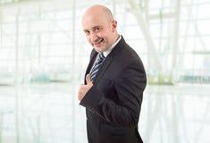 Pollice dell'uomo d'affari in su Fotografia Stock Libera da Diritti