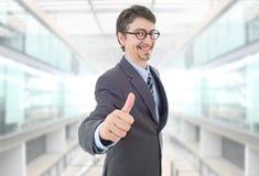 Pollice dell'uomo d'affari in su immagini stock libere da diritti
