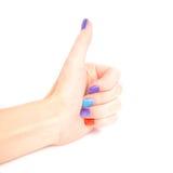 Pollice della mano della donna su Fotografia Stock Libera da Diritti