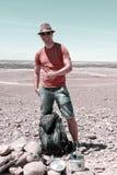 Pollice di Geocacher su Fotografia Stock
