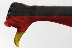 Pollice giù Germania fotografia stock
