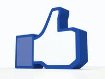 Pollice in su sociale del facebook di media Fotografia Stock Libera da Diritti