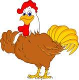 Pollice sveglio del fumetto del gallo su Fotografia Stock Libera da Diritti