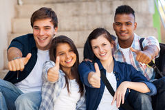 Pollici degli studenti su Fotografia Stock