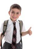 Pollici dello scolaro in su fotografia stock libera da diritti