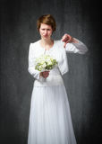 Pollici di giorno delle nozze giù immagine stock