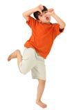 Pollici sciocchi del ragazzo giù Fotografie Stock Libere da Diritti