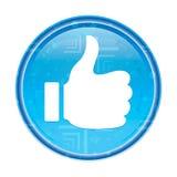 Pollici su come il bottone rotondo blu floreale dell'icona royalty illustrazione gratis