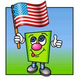 Pollici in su per gli S.U.A. Fotografie Stock
