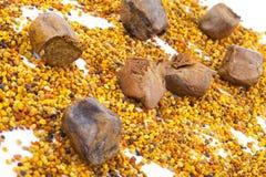 Polline e propoli dell'ape immagine stock