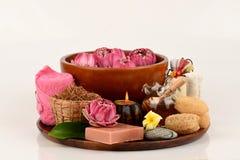Polline Lotus, Lotus Flower e sapone, fiore fatto a mano della stazione termale dei saponi della Tailandia Fotografie Stock Libere da Diritti