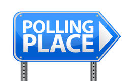 Polling place sign illustration design. Over white Stock Photo