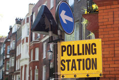Polling Station Royalty Free Stock Image
