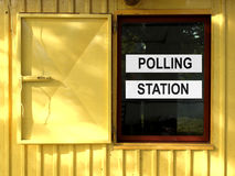 Polling station. Place for voters to cast ballots in elections Stock Photo