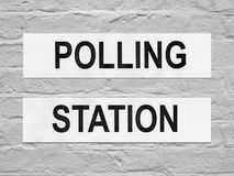 Polling station. Place for voters to cast ballots in elections Stock Images