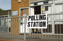 Polling station entrance, Royalty Free Stock Photos