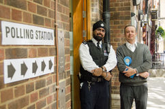 Polling Station on General Election Day Stock Images
