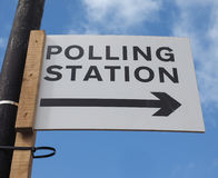 Polling station in London Royalty Free Stock Photography