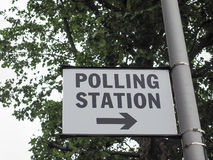 Polling station in London Stock Images