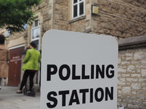 Polling station in London Royalty Free Stock Photo