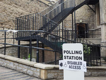 Polling station in London Stock Photo