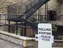 Polling station in London Stock Image