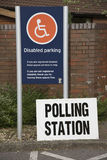 Polling station sign for disabled Royalty Free Stock Image