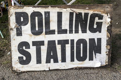 Polling Station Sign Stock Images