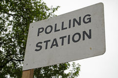 Polling Station Sign, UK General Election. Sign outside a polling station on the day of the General Election in the UK Stock Photography