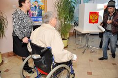Polling stations for people with disabilities Royalty Free Stock Images