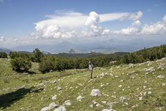 Pollino landscape. Landscape of Pollino national park, a wide natural reserve in Basilicata and Calabria, italian regions royalty free stock images