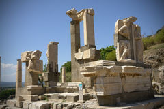 Pollio Fountain Ephesus Stock Photography