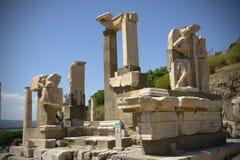 Pollio springbrunn Ephesus Arkivbild