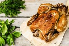 Pollo affumicato Fotografia Stock Libera da Diritti