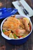 Pollo al forno Fotografia Stock