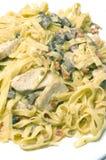 Pollo Alfredo dell'aglio fotografie stock