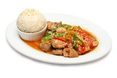 Pollo - alimento gastronomico del ristorante Immagini Stock Libere da Diritti