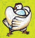 Pollo & uovo illustrazione di stock