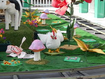 Pollo animado Foto de archivo