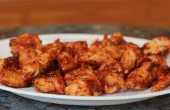 Pollo arrostito col barbecue. Fotografia Stock