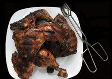 Pollo arrostito col barbecue Fotografia Stock