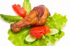 Pollo arrostito della coscia fotografie stock