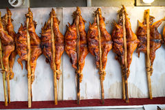 Pollo arrostito tailandese di nordest Fotografia Stock